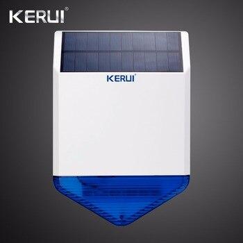 KERUI SJ1 sirena Solar inalámbrica al aire libre para sistema de alarma GSM sirena estroboscópica de seguridad a prueba de agua antimanipulación