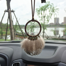 5cm Diameter feather Car Home Hanging Indian Style Feather Decoration New Year Gift Free Shipping