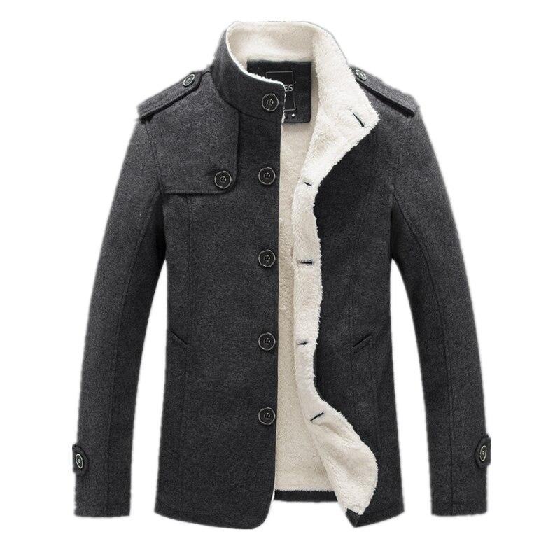 100% Wahr Bolubao Neue Männer Wolle Mischung Mode Winter Jacke Männer Fleece Gefüttert Dicke Mantel Männlichen Wolle Mantel Peacoat Oberbekleidung Einfach Und Leicht Zu Handhaben