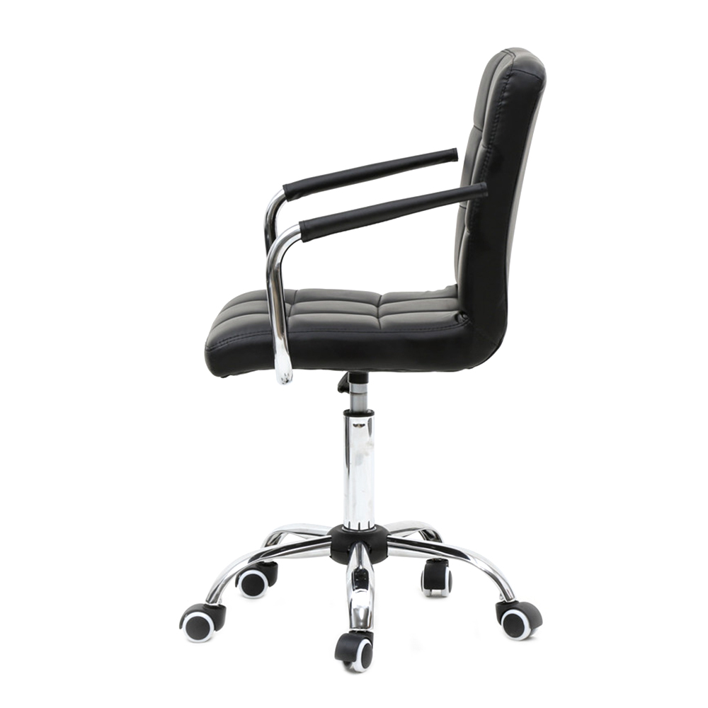 Punctual Ru Free Shipping 360 Degree Rotation Middle Back Office Chair Black Elegant And Graceful Office Furniture