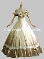 Свет от плеча Southern Belle викторианской атласная Пром Платье/вечерние платье/вечерние костюм