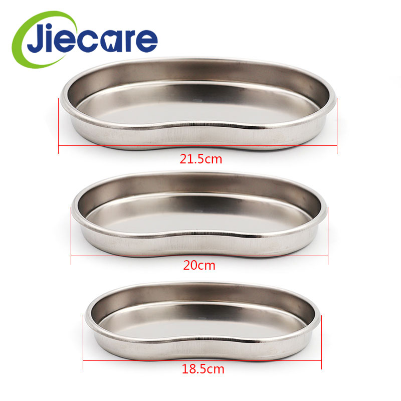 Creative 3pcs/pack Dental Stainless Steel Surgical Medical Instrument Bending Tray Disinfection Plate For Sterilization 3 Types Available Oral Hygiene