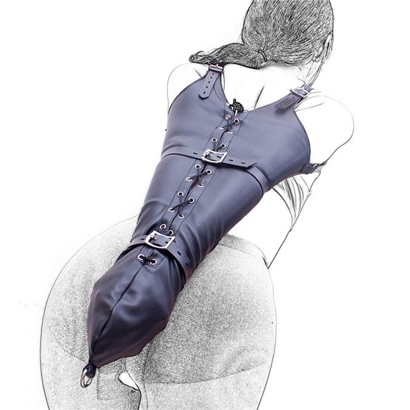 bondage leather armbinder lacing custom italian leather