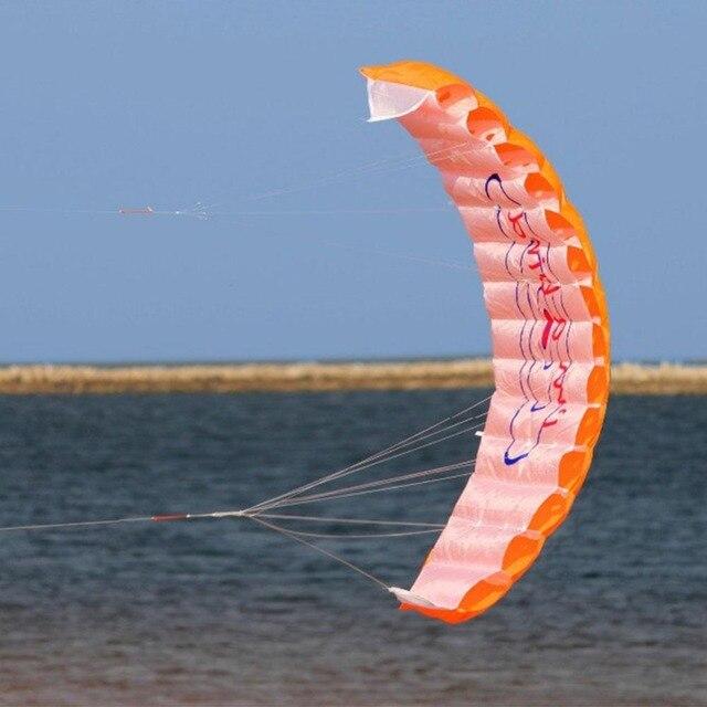 Бесплатная доставка 1,4 м кайтсерфинга спортивные Мощность двойной линии трюк Parafoil парашютом Радуга игры летающие инструменты пляж Кайт открытый игрушка