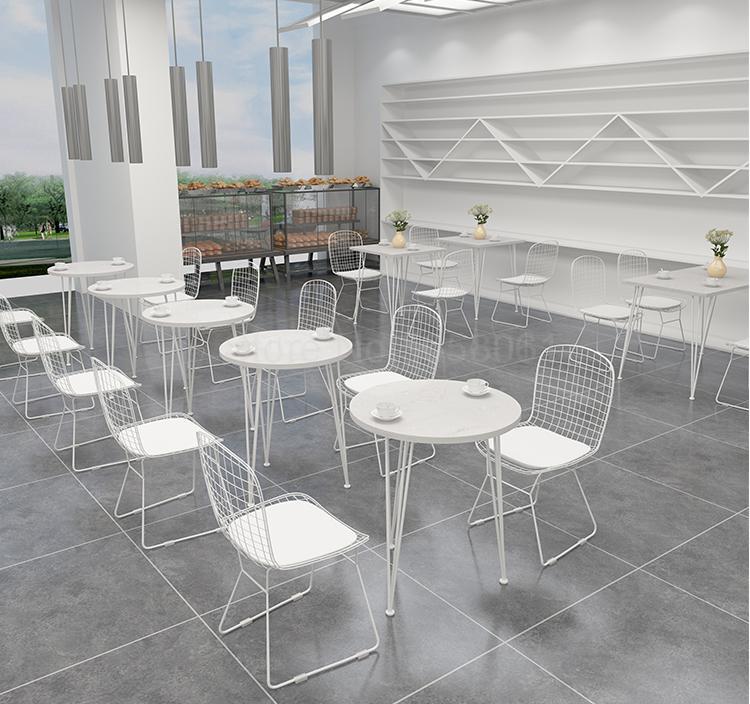 Молочный чайный магазин столы для кафе и стульев сочетание чистая красная простая мраморная столовая Кондитерская Повседневная ресторанные столики и стулья