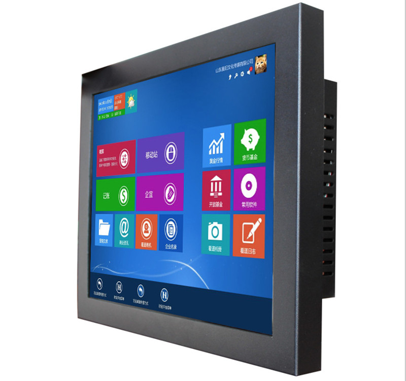 Fansless 17 Inch Touch Screen Industrial Panel All In One PC Cheap Embedded Computer With Intel Core I3 Cpu