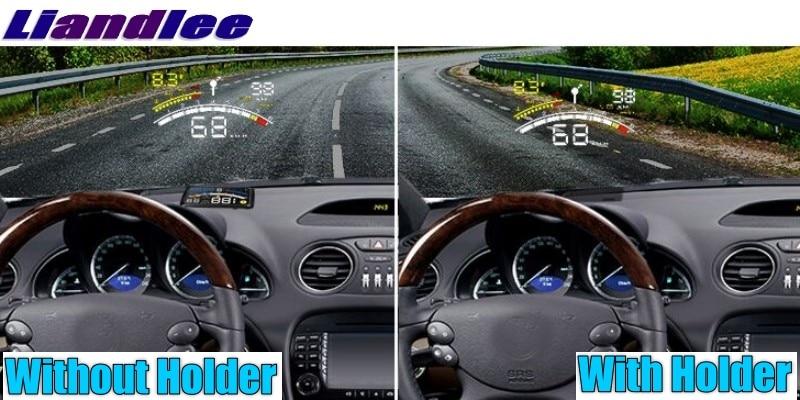 Liandlee HUD Big Monitor Car Speed Projector Windshield Vehicle Head Up Display Digital Speedometer OBD Diagnostic High light Clarity Racing Display Build-in Holder HUD holder