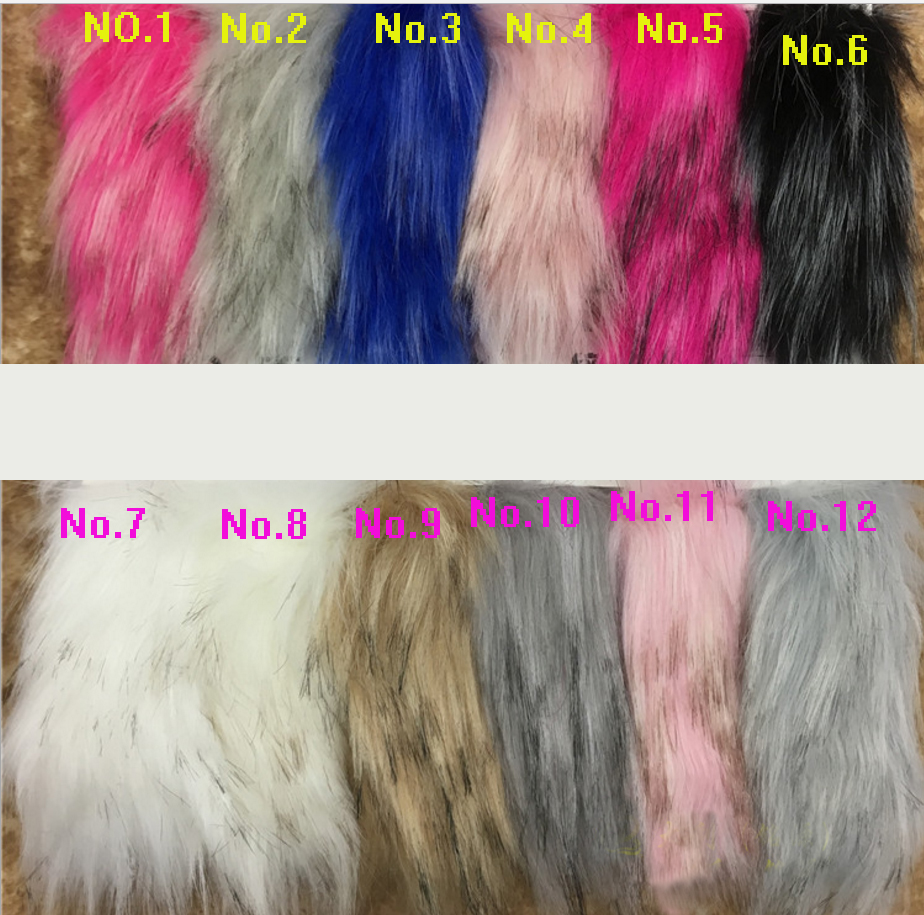 High grade thick imitation raccoon long plush cloth COSPLAY decorative faux fur fabric 160cm 45cm half
