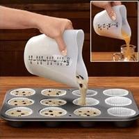 2018 nouveau 500 ml de silicium tasse tasse à mesurer souple doux lait tasse outils de cuisson oeuf pâte séparation