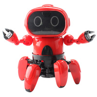 Intelligent Programming 6 Way Remote Control Robot Finish Version Patrol Obstacle Avoidance / Gesture Following / Sport Mode