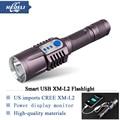 Smart USB Flashlight CREE XM-L2 Aluminum led Flashlight lanterna led torch light linternas led lamp
