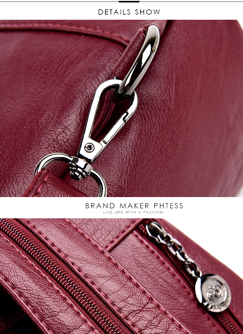 HTB1yQLvhfBNTKJjy0Fdq6APpVXau 2019 Women Anti-theft Leather Backpacks Female Ladies Backpacks For School Retro Sac a Dos Femme Female School Shoulder Bags