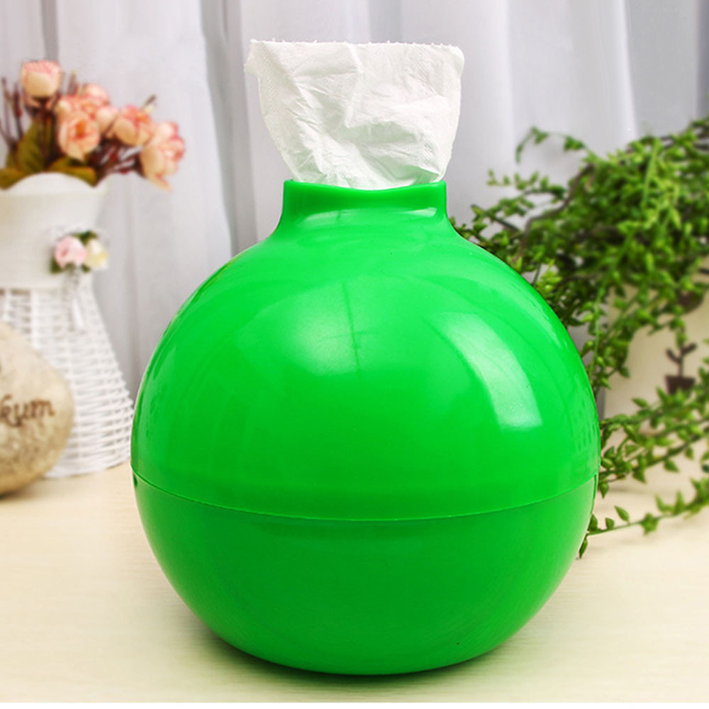 Portable Round Tissue Box Tissue Platic Holder Paper Pot Toilet Tissue Paper Tissue Rack In Desk Organization Holder 10Jun 4