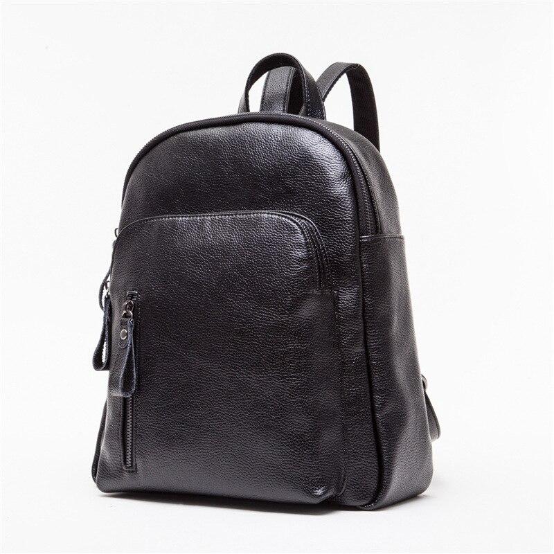 High Quality 2017New Litchi Grain Travel Backpack Korean Women Backpack Leisure Student Schoolbag Soft PU Leather Women Bag B84