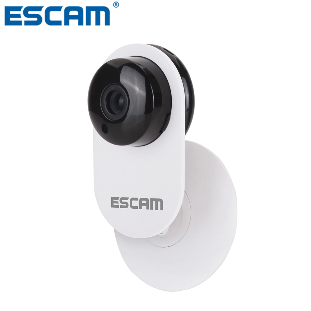 ESCAM QF605 Mini Household Wifi IP Camera 1.0MP HD 720P Onvif 2.0 P2P indoor infrared Surveillance Security CCTV Camera wifi ipc 720p 1280 720p household camera onvif with allbrand camera free shipping