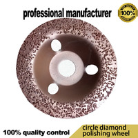 20% off new arriaval diamond polishing wheel 120mm polishing pad at good price and fast delivery with core hole 20mm