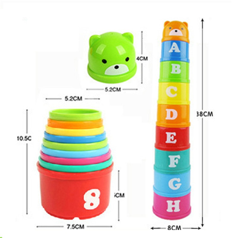 Kids Colorful Number Toys Letter Educational Baby Toddler Child Blocks Bricks Math Pile Toys Kits Stacking