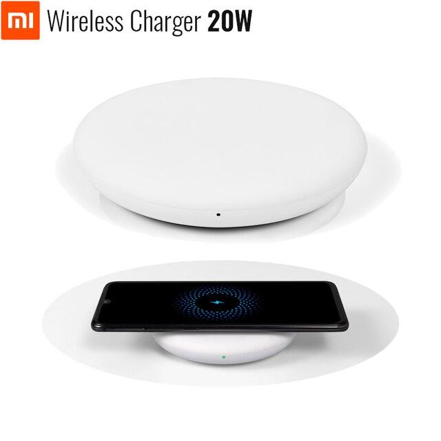 オリジナル xiaomi ワイヤレス充電器 20 ワット最大 mi 9 (20 ワット) ミックス 2 s/3 (10 ワット) qi epp 互換携帯電話 (5 ワット) 複数の安全