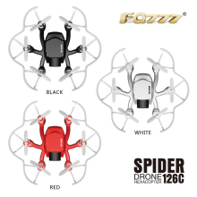 Pocket RC Drone 126C Headless Mode 360 Degree Eversion Copter 3D-flip with 2.0MP Camera Quadcopter Spider drone RC Hexacopte RTF