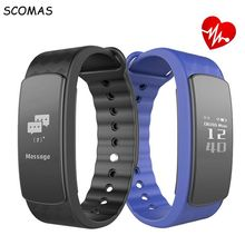 SCOMAS I3 HR Sensible band zero.96 inch contact display coronary heart charge monitor Sensible Wristband clever Sports activities administration sensible bracelet