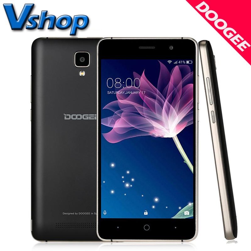 Doogee X10 Smartphone 3G Android 6.0 MTK6570 Dual RAM 512MB ROM 8GB 5MP 3360mAh 5.0 inch Mobile phones