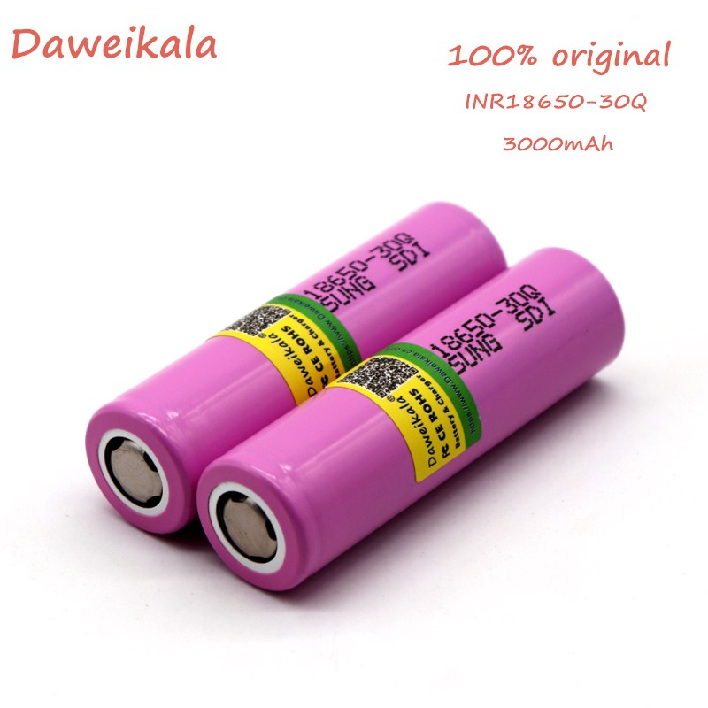 Daweikala 100% original for Samsung 18650 battery 3000 MAH INR 18650 30Q 20A Li ion rechargeable