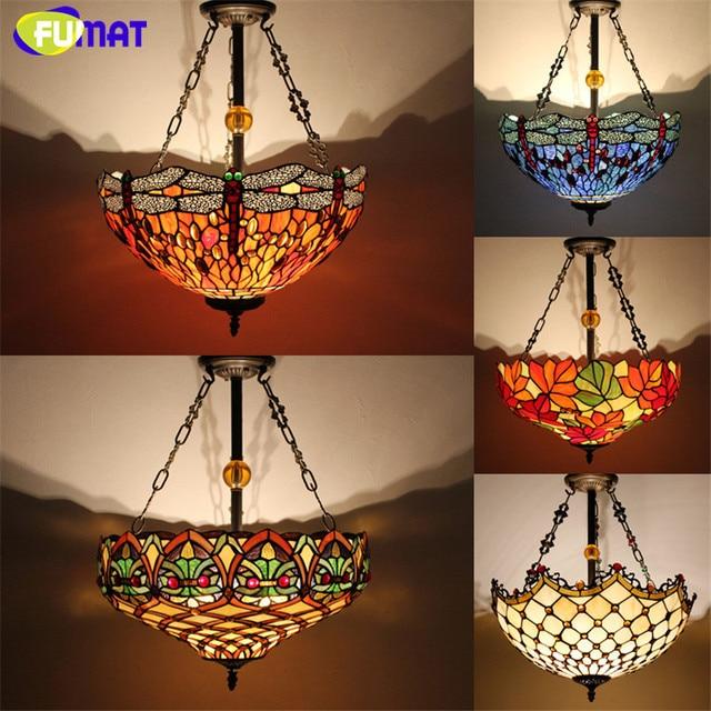 Antik Landhausstil Tiffany lampe Glasmalerei Hängeleuchten Libelle ...