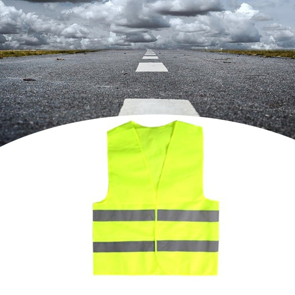 Image 5 - Yellow Reflective High Visibility Safety Vest Men & Women Work Cycling Runner Surveyor Volunteer Crossing Guard Wear-in High Visibility Jackets from Automobiles & Motorcycles