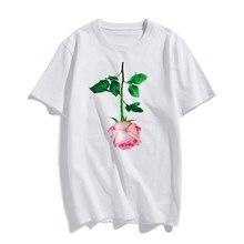 BTFCL Short Sleeve Women TShirt Rose Art Harajuku Aesthetics Printed Cotton Top Tees Casual T Shirt Camisetas Verano Mujer 2019