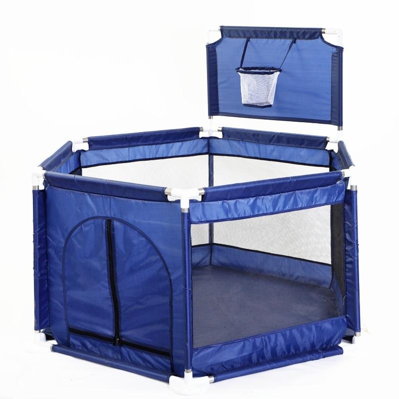 New Net Yarn Hexagonal Ball Pool Basketball hoop Play Fence Playyard Kids Toy Tent Indoor Outdoor Baby Playpens Children Tent