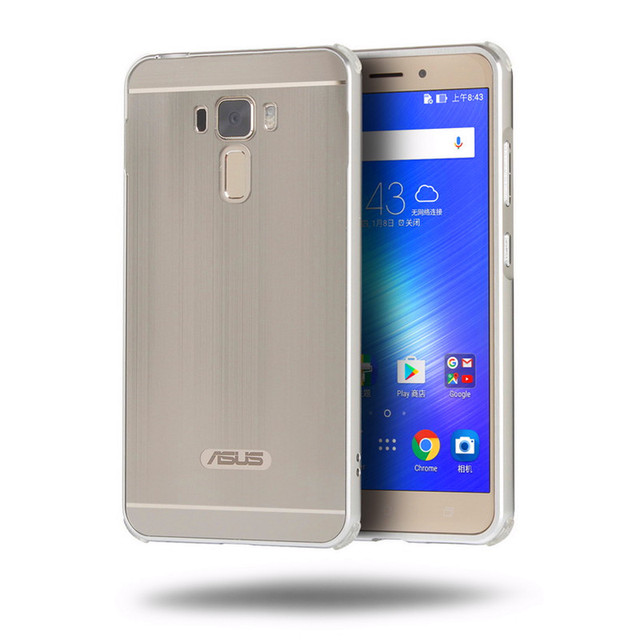 huge discount be81c 499cc US $4.11 15% OFF|For Asus Zenfone 3 Laser ZC551KL Aluminum Brushed Mirror  Metal Frame Case + PC Back Cover Hard Case Phone Shell Protect Case-in ...