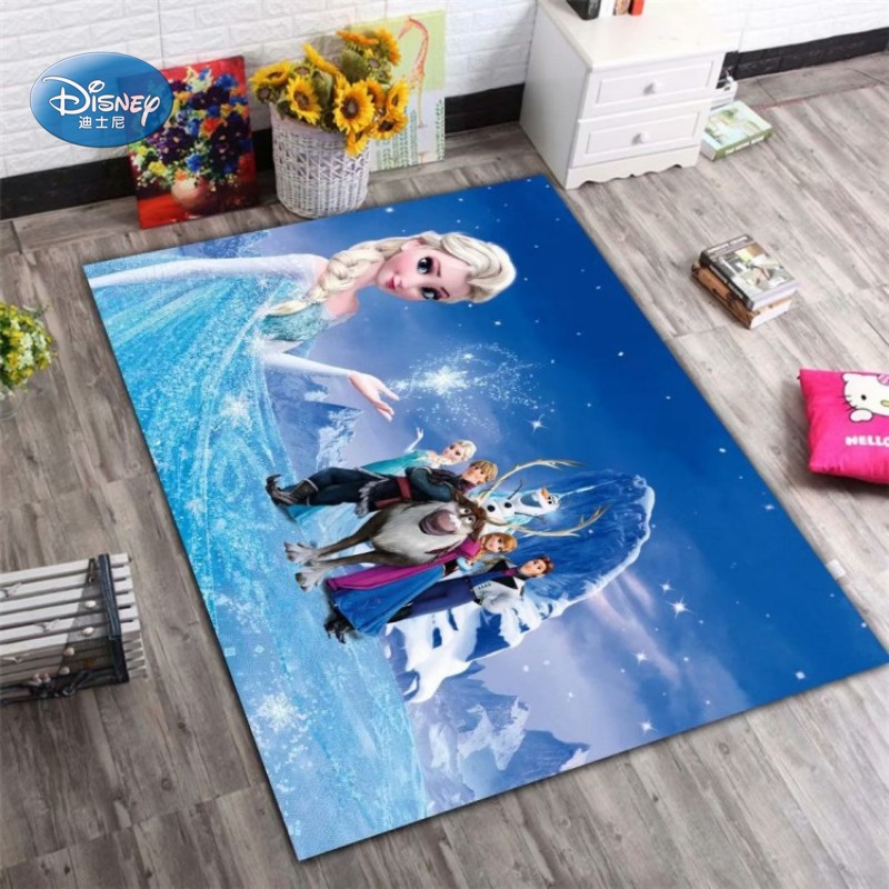 Disney Frozen Elsa Ann Rug Princess Cute Children Room Carpet Nordic Girl Bedroom Living Room Blanket Kids Baby Crawling Mat