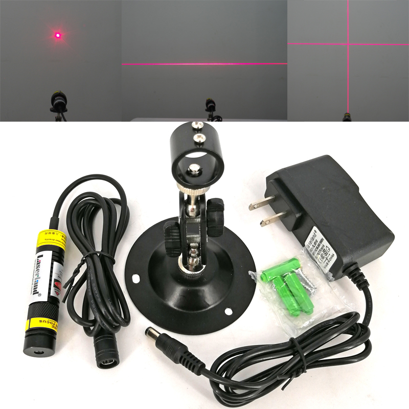 16*68mm 50mW 100mW 200mW 650nm Red Line Laser Module Dot Cross Hair Line Laser Focusable Alignment Locator Wood Cutting Sawmill