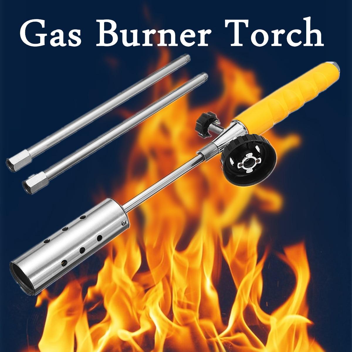 Weed Killer Grass Shrub Garden Kill Burner Kit Handle Butane Gas Torch with 2 x ExtensionPole Stainless Steel Spray цена