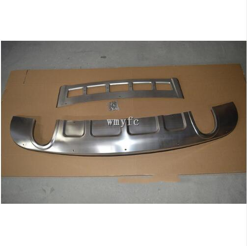 For Stainless Steel Front + Rear Bumper Protector Guard