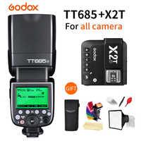 Godox Speedlite Flash TT685-C/N/S/F/O 2,4G HSS TTL Wireless + X2T-C/ n/S/F/O Trigger für Canon Nikon Sony Fujifilm Olympus Kamera