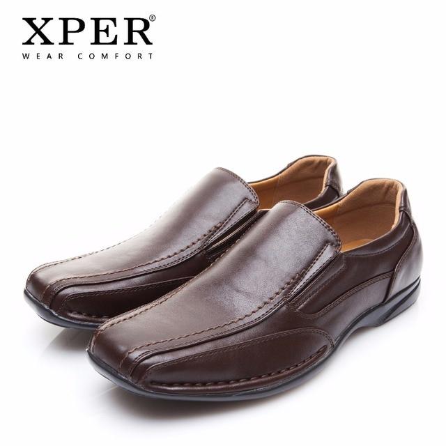 2018 XPER Повседневная брендовая кожаная обувь Модные слипоны мужские лоферы Удобная прогулочная обувь мужские мокасины # XYWD8660