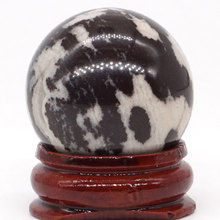 Natural Nguni Jasper Ball Mineral Quartz Sphere Hand Massage Crystal Healing Feng Shui Home Decor Accessory 30mm