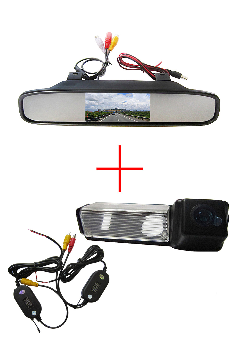 Wireless Color Car Rear view Camera for Mitsubishi Dakar Challenger Grandis Nativa Pajero Sport+4.3 Inch rearview Mirror Monitor  2003 2008 year for mitsubishi pajero sport montero sport nativa pajero dakar led tail lamp rear light all smoke black color sn