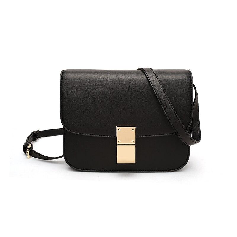 New tide retro box mini Genuine Leather women messenger bags Fashion Cow small simplicity lock soft womens shoulder bag