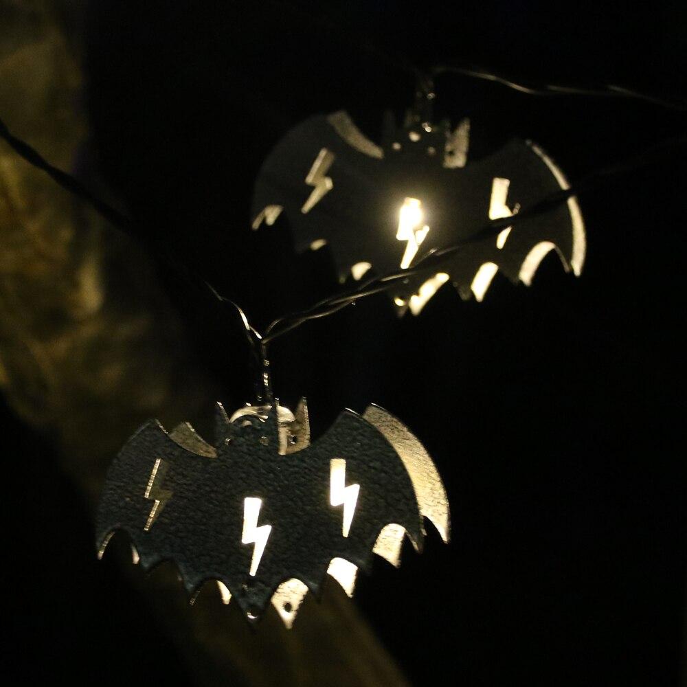 4 м/6 м Солнечная/Батарея питание bat Shadow 10/20 Гирлянды светодиодные Свет Фея огни Хэллоуин пасхальный декор затемнения праздник Лампы для мото...