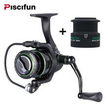 Piscifun 2017 New Venom Extra Spool Water Resistant Spinning Reel Max Drag 12Kg Carbon Drag 10+1 Bearings Carp Spinning Reel