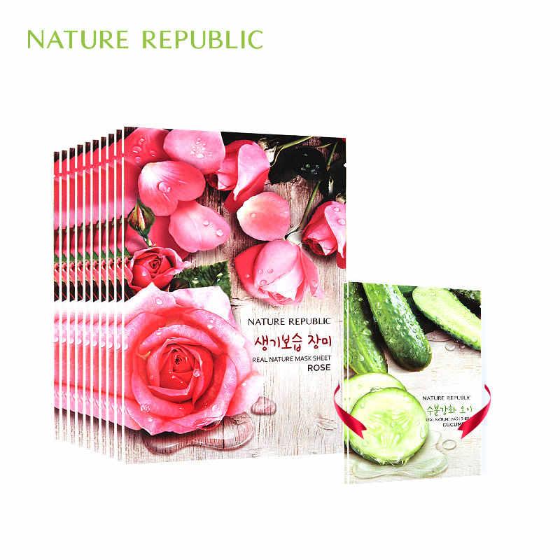 Natura Repubblica Maschera coreano Copriletto Rosa Viso Maschere Cura Della Pelle il Controllo del Petrolio Idratante Sbiancamento Maschera Facciale