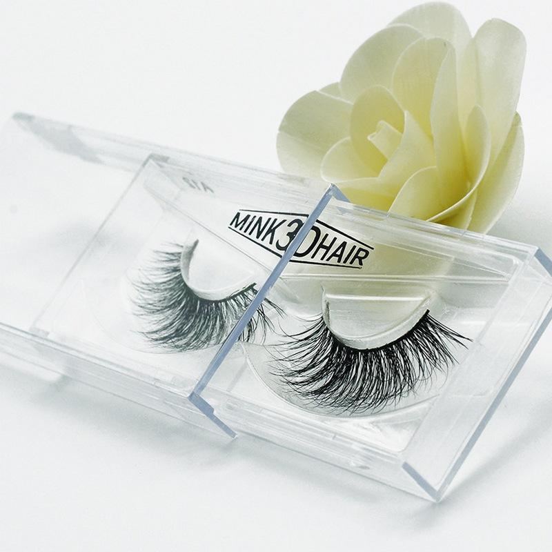 3D mink eyelash lashes real mink fur Handmade crossing individual strip thick Natural False Eyelashes for