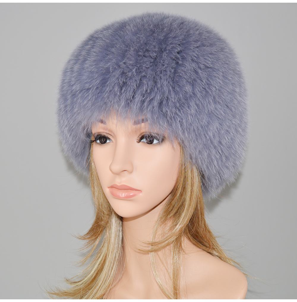 c435a7e25 HOT SALE] 2019 Luxury 100% Natural Real Fox Fur Hat Women Winter ...