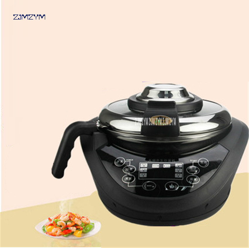 220V Multi cooker Frying Pan Automatic Cooking Machine Intelligent cooking pot automatic cooking robot TR20105-A Food Processors 220v 600w 1 2l portable multi cooker mini electric hot pot stainless steel inner electric cooker with steam lattice for students
