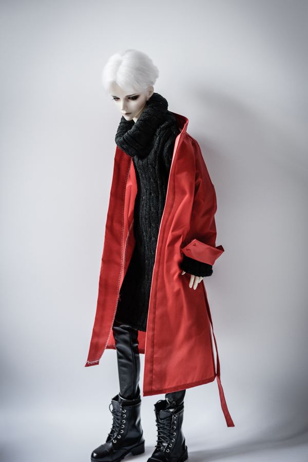 Red long wind coat For BJD 1/3  ,SD17 ,UNCLE Doll Clothes Accessories 1 4 1 3 uncle sd17 msd bjd sd doll accessories bjd clothes white red black pants