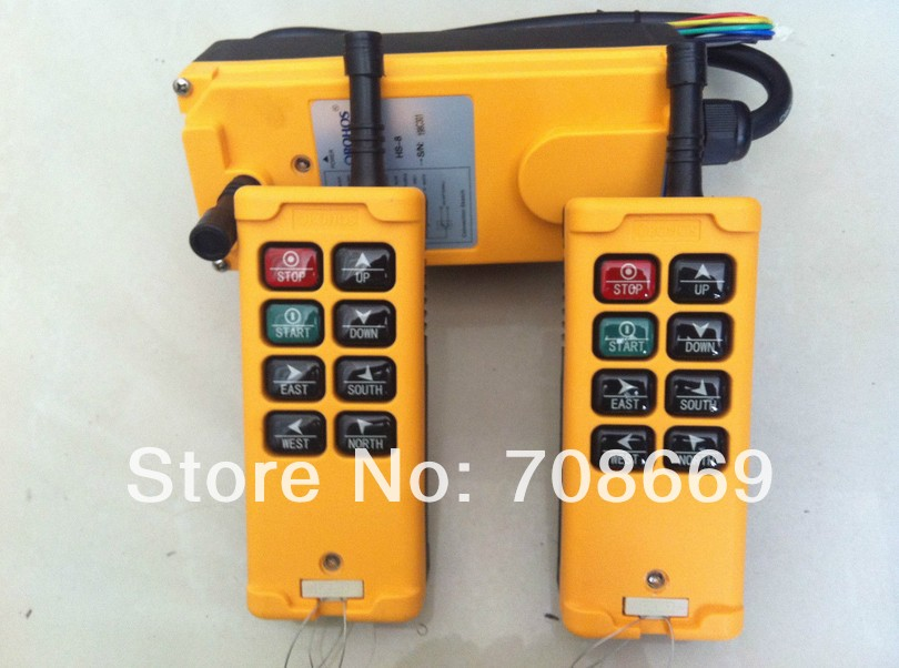2 Transmitters 3 Motions 1 Speed Hoist Crane Truck Remote Control System