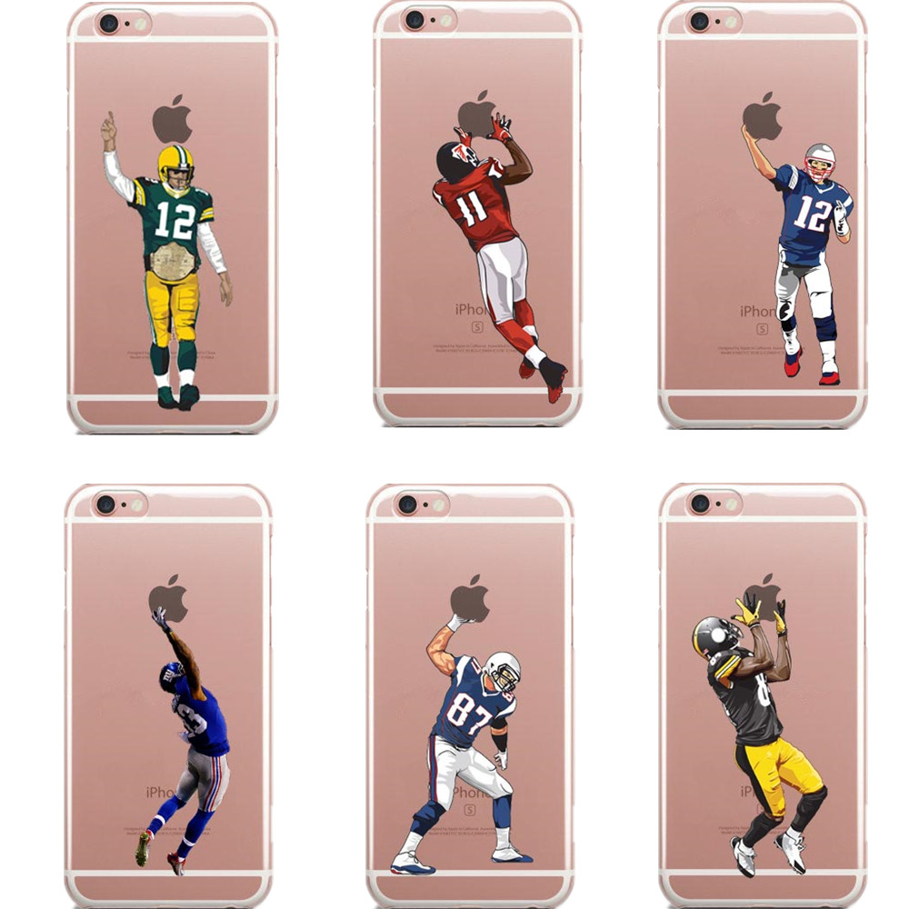 premium selection 87939 290ad US $1.79 40% OFF Phone Case Football Super Players TPU Cases For iPhone X  10 5 5s SE 6 6S 7 7Plus XS XR XS Max 8 8 Plus Clear Back Cover-in Phone ...