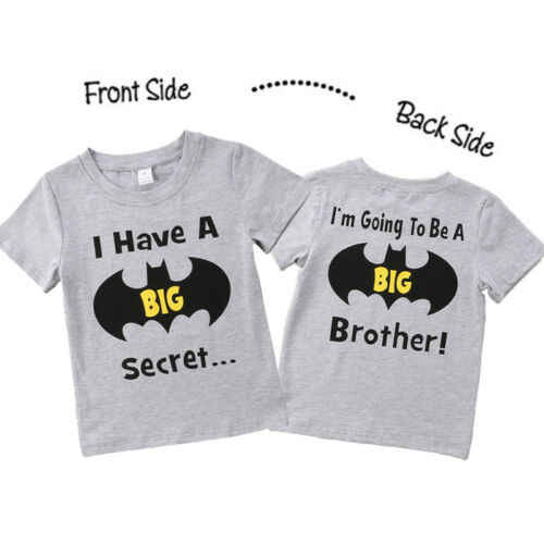 Cotton Toddler Kid Baby Boy Batman Big Brother Top T-shirt Casual Short Sleeve O Neck Soft High Quality Clothes Summer
